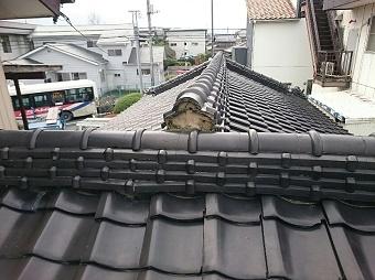 前橋市屋根の瓦がない写真