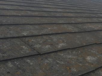 藤岡市F様邸の施工前の屋根の写真