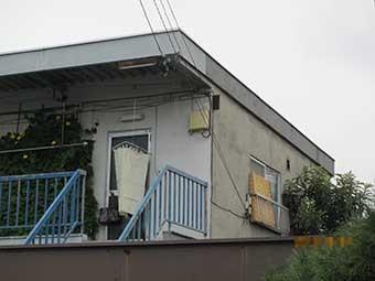 前橋市昭和町Aアパート2階外壁東面