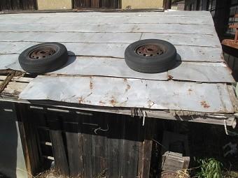渋川市A様邸屋根の板金傷んだ部分