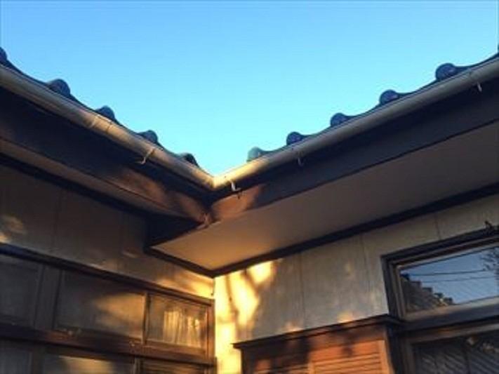 前橋市総社町で青い瓦屋根のお宅の工事完成