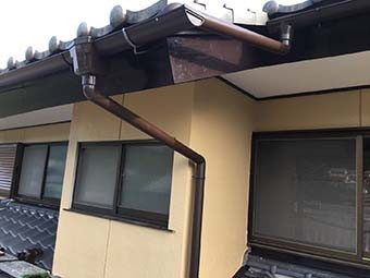 沼田市東原新町S様邸 雨樋取り付け完了2
