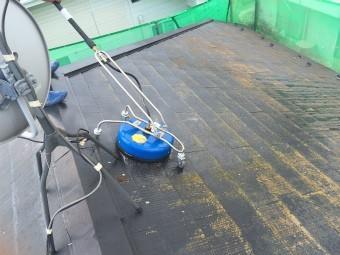 前橋市屋根洗浄工事飛散しない機械下山様