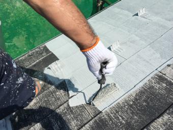 前橋市屋根下塗り下山様