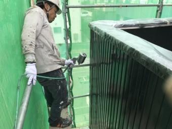 高崎市倉賀野町で外壁ガルバリウムの上塗り