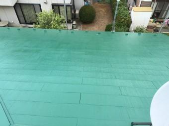 前橋市の大屋根塗装グリーン完成写真