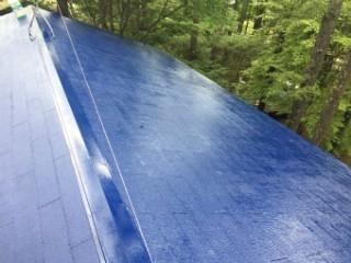 前橋市の大屋根塗装完了艶が違いますね