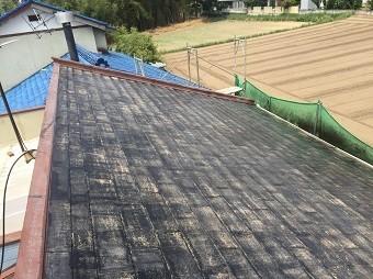 前橋市富士見町でコロニアル屋根の洗浄後