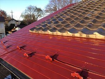 高崎市金古町S様邸トタン屋根塗装完成
