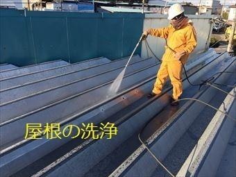 前橋市天川大島町H様邸せっぱん屋根の洗浄