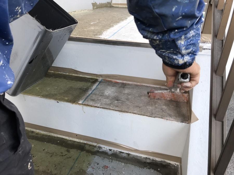 前橋市三河町マンション階段防水工事3