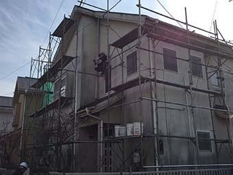 藤岡市 屋根外壁塗装 足場工事