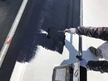 藤岡市 屋根外壁塗装 屋根中塗り