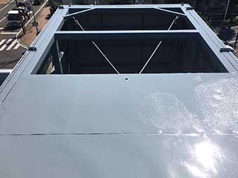 前橋市 屋上看板塗装 完成