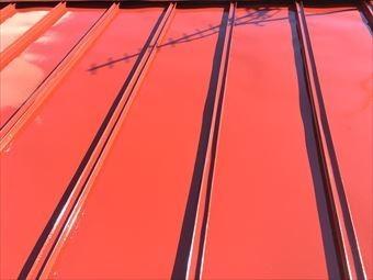 前橋市本町T様邸サンブキトタン屋根塗装中塗り