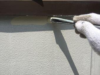 吾妻郡草津町S様邸ベランダ内壁刷毛塗装
