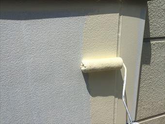 吾妻郡草津町S様邸ベランダ内壁ローラー塗装