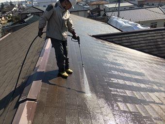 太田市古氷町t様邸屋根の洗浄