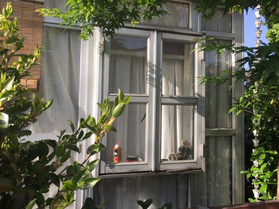 高崎市貝沢町M様邸突然のヒョウでお気に入りのサンルーム被害