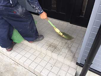塗装後の清掃