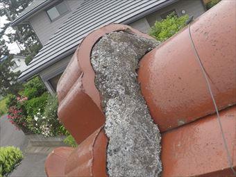 前橋市荒牧町屋根漆喰調査