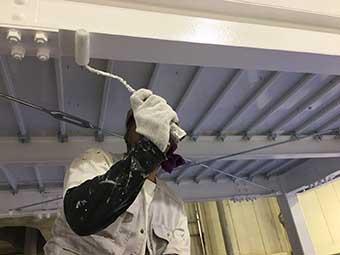 工場渡り廊下塗装