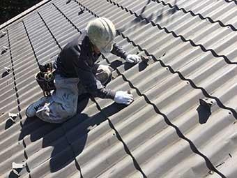 北軽井沢屋根塗装ケレン