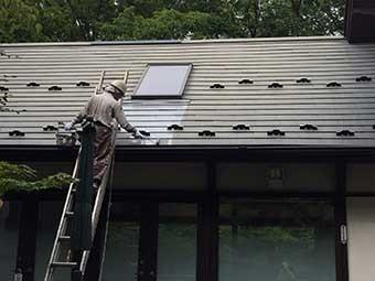 北軽井沢屋根一部塗装
