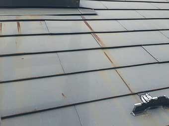 北軽井沢屋根一部塗装施工前