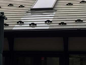 北軽井沢屋根一部塗装施工後