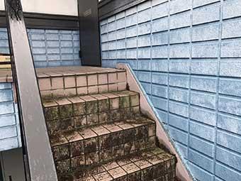 高崎市沖町アパート 現場調査 外階段