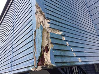 高崎市沖町アパート 現場調査 外壁破損