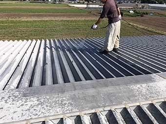 工場屋根塗装 高圧洗浄