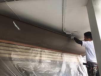 八百屋さんの部分塗装