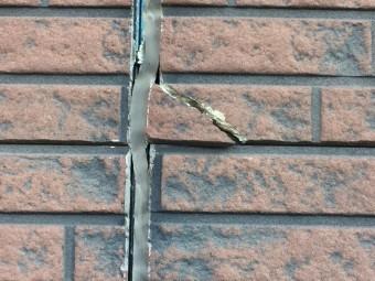 高崎市楽間町外壁のひび割れ