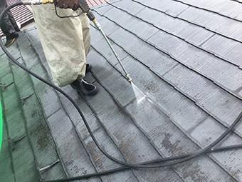 前橋市石倉町屋根高圧洗浄