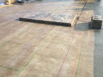 前橋市 屋上防水 トップコート塗装前