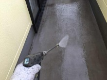 前橋市総社町ベランダ工事洗浄