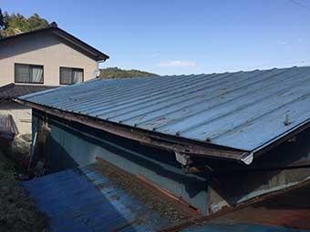 藤岡市三波川A様邸作業場の屋根