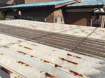 前橋市関根町ガレージ折板屋根