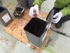 前橋市 屋上防水 ポリエステル樹脂に硬化剤