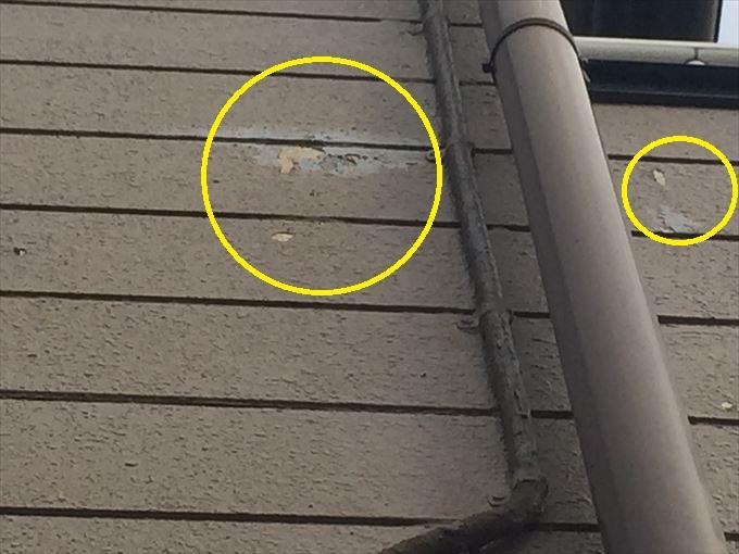 前橋市鳥取町外壁調査で塗装の剥がれとコーキングのヒビ割れ発見
