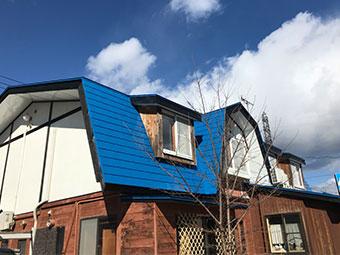 草津町ペンション 屋根塗装終了
