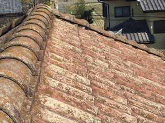 前橋市江木町屋根瓦の劣化状況
