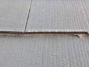 前橋市富士見町 屋根塗装剥がれ