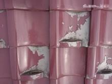 前橋市富士見町 日本瓦塗膜はく離