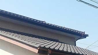 瓦屋根、漆喰点検