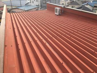 前橋市千代田町のA様邸にて_雨漏りによる折板屋根修理と塗装の完工です!