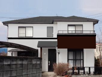 みどり市笠懸町Y様邸、カラーシミュレーション1