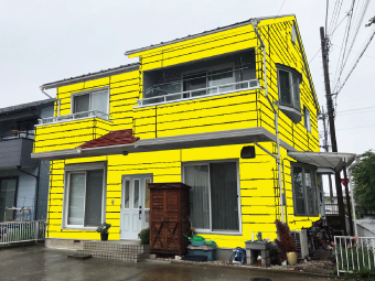 外壁黄色カラーシミュレーション